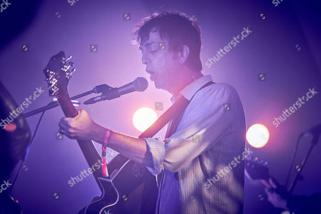 Danny Goffey performs at the Caught By The River Stage, Port Eliot Festival,
