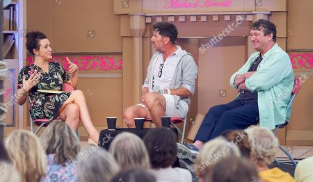 Stock Image of Grace Dent, Rowley Leigh and Russell Norman at The Bowling Green, Port Eliot Festival