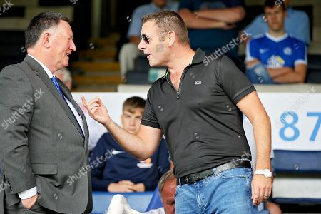 Peterborough United owner Darragh MacAnthony shares a joke with CEO Bob Symns before the Pre-Season Friendly match between Peterborough United and Bolton Wanderers at London Road, Peterborough. Picture by Nigel Cole