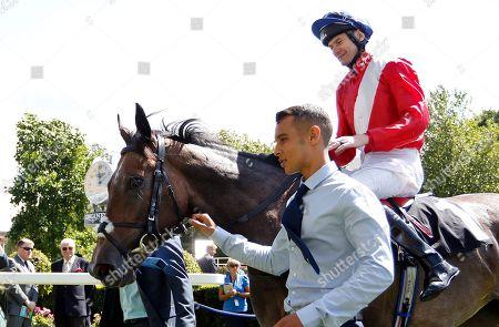 ANGEL'S HIDEAWAY (Robert Havlin) after The Princess Margaret Keeneland Stakes Ascot