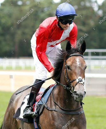 ANGEL'S HIDEAWAY (Robert Havlin) before winning The Princess Margaret Keeneland Stakes Ascot