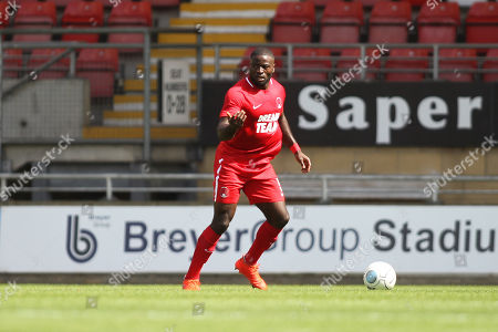 George Elokobi of Orient during Leyton Orient vs Southend United, Friendly Match Football at the Matchroom Stadium on 28th July 2018
