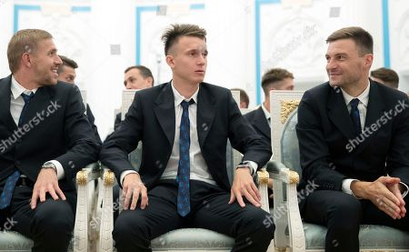 Editorial picture of Russian President Vladimir Putin meets with the national  soccer team, Moscow, Russian Federation - 28 Jul 2018