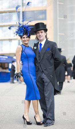 Ilda Di Vico with her husband Steven Barrett at Royal Ascot