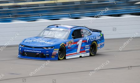 Elliott Sadler posted the fastest time in qualifying and will start on the pole during the NASCAR Xfinity Series auto race, at Iowa Speedway in Newton, Iowa