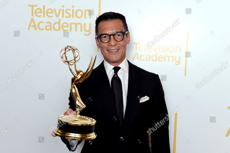 """EXCLUSIVE - David Ono winner of the Emmys for serious news-story - single report for """"Return to Japan: 6 Years After the Tsunami"""" and for single report for """"Nick Ut Retirement"""" at the 70th Los Angeles Area Emmy Awards, at the Saban Media Center at Television Academy's North Hollywood, Calif. headquarters on"""