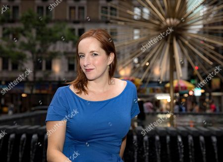 Editorial image of Rebecca Makkai out and about, New York, USA - 22 Jul 2018