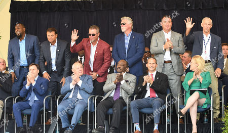Vladimir Guerrero, Trevor Hoffman, Chipper Jones,Jack Morris Jim Thome and Alan Trammell, Bob Costas, Sheldon Ocker, Joe Morgan and Jeff Idelson