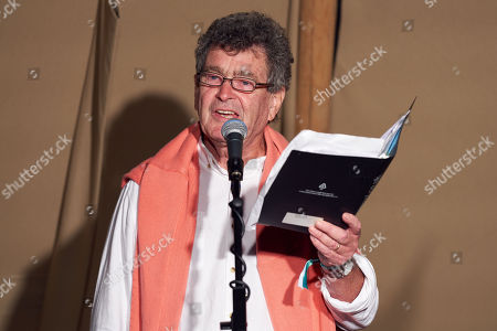 Stock Picture of Brian Patten at The Poetry Stage