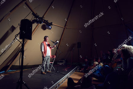 Stock Image of Brian Patten at The Poetry Stage