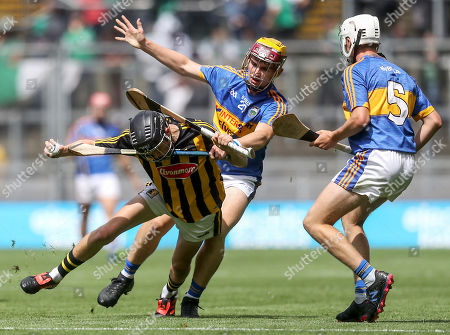 Tipperary vs Kilkenny. Kilkenny?s Cian Kelly with Jack Morrissey and Johnny Ryan of Tipperary