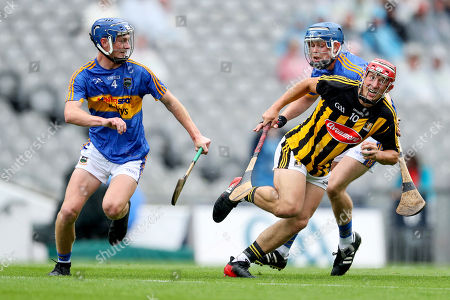 Tipperary vs Kilkenny. Tipperary?s Kevin Hayes and Frank Hanafin with Jack Morrissey of Kilkenny
