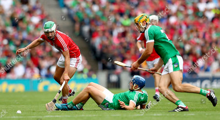Cork vs Limerick. Cork?s Shane Kingston with Michael Casey and Dan Morrissey of Limerick