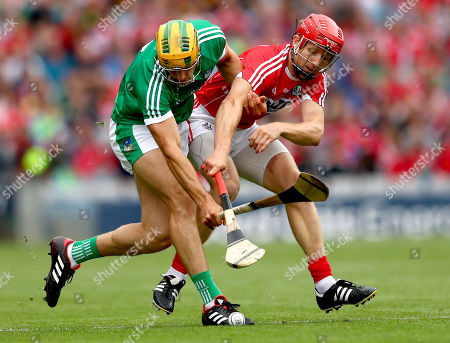Cork vs Limerick. Limerick?s Dan Morrissey and Bill Cooper of Cork