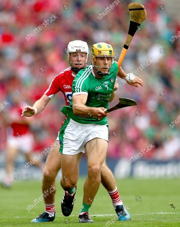 Cork vs Limerick. Cork?s Luke Meade and Dan Morrissey of Limerick
