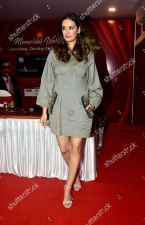 Indian film actress Evelyn sharma launch CountryClubs Millionaire Club card in Mumbai.
