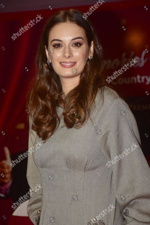 Stock Picture of Indian film actress Evelyn sharma launch CountryClubs Millionaire Club card in Mumbai.