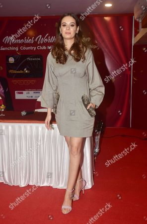Stock Photo of Indian film actress Evelyn sharma launch CountryClubs Millionaire Club card in Mumbai.