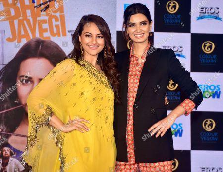 Indian film actress Sonakshi Sinha and Diana Penty