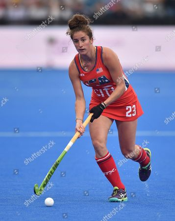 Editorial photo of India v USA, Vitality 2018 Hockey Women's World Cup - Pool B, Lee Valley Hockey and Tennis Centre, London, UK - 29 July 2018
