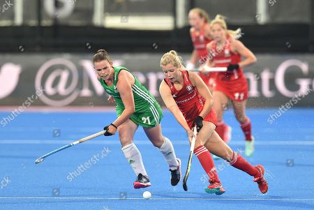 Editorial image of England v Ireland, Vitality 2018 Hockey Women's World Cup - Pool B, Lee Valley Hockey and Tennis Centre, London, UK - 29 July 2018
