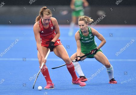Giselle Ansley of England  and Nicci Daly of Ireland