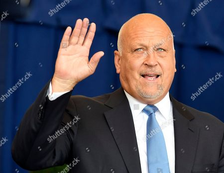 National Baseball Hall of Famer Cal Ripken is introduced during an induction ceremony at the Clark Sports Center, in Cooperstown, N.Y