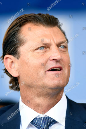 National Baseball Hall of Fame inductee Trevor Hoffman, listens during an induction ceremony at the Clark Sports Center, in Cooperstown, N.Y