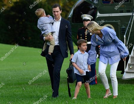 Jared Kushner, Ivanka Trump, Joseph Kushner, Theodore Kushner. White House adviser Jared Kushner, second from left, and his wife Ivanka Trump, right, the daughter of President Donald Trump, walk with their children, Theodore, left, and Joseph, third from left, as they return via Marine One on the South Lawn of the White House in Washington, . The Trumps spent the weekend in Bedminster, N.J