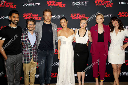 Stock Picture of Hasan Minhaj, David Iserson (Co-Screenwriter), Sam Heughan, Mila Kunis, Kate McKinnon, Ivanna Sakhno, Susanna Fogel (Director)
