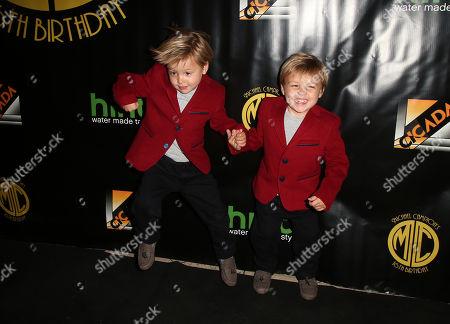 Stock Image of Messitt Twins, Dashiell Messitt, Fox Messitt