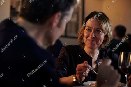 Stock Picture of Nicola Walker as DCI Cassie Stuart and Alastair MacKenzie as DCI John Bentley.