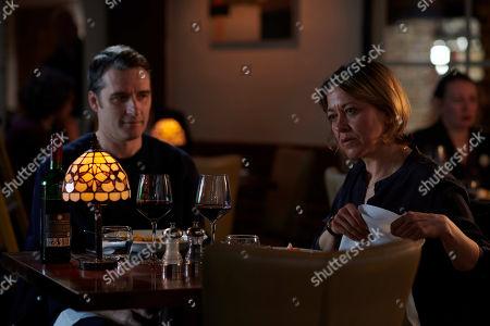 Nicola Walker as DCI Cassie Stuart and Alastair MacKenzie as DCI John Bentley.