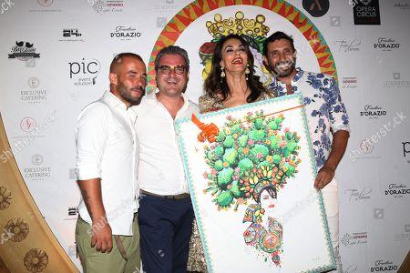 Editorial photo of Mariagrazia Cucinotta 50th birthday party, Rome, Italy - 29 Jul 2018