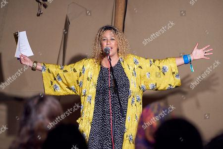 Stock Photo of Salena Godden, The Poetry Stage