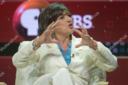 "Stock Image of Stephen Segaller, Christiane Amanpour. Stephen Segaller, left, and Christiane Amanpour participate in the ""Christiane and Company"" panel during the TCA Summer Press Tour, in Beverly Hills, Calif"