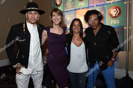 Taboo, Lois Vossen, Christina Fon, Stevie Salas. Taboo, from left, Lois Vossen, Christina Fon and Stevie Salas pose for a photo during the TCA Summer Press Tour at the Beverly Hilton, in Beverly Hills, Calif