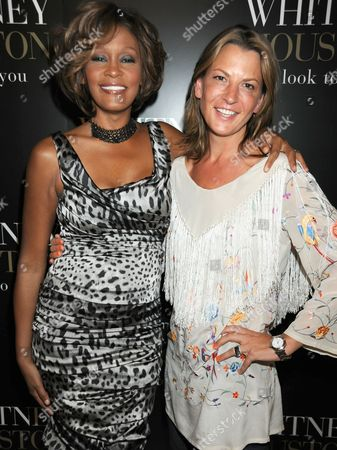Whitney Houston and Tania Foster Brown