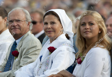 King Carl Gustaf, Queen Silvia and Princess Madelaine