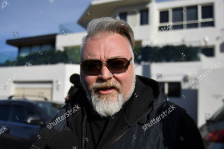 Stock Picture of Radio host Kyle Sandilands arrives at the house of Kings Cross nightclub owner John Ibrahim during a police operation at Dover Heights in Sydney, Australia, 31 July 2018. Police said the operation was conducted in connection with serving of a firearms prohibition order.