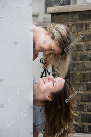 Stock Picture of Maddy Bye and Marina Bye (daughters of Ruby Wax)