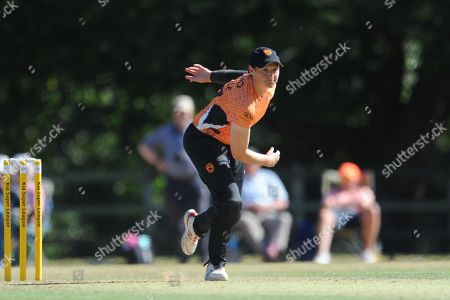 Arran Brindle of Southern Vipers bowling during the Women's Cricket Super League match between Southern Vipers and Western Storm at Arundel Castle, Arundel. Picture by Dave Vokes
