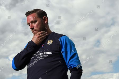 Kevin Nolan manager of Notts County talks to the media during EFL 2018/19 season Launch press conference.