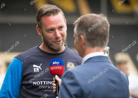 Kevin Nolan, manager of Notts County talks to the media during the EFL 2018/19 season Launch press conference.