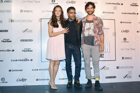 Silvia Navarro, guest and Osvaldo Benavides