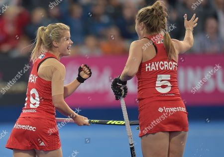 Editorial picture of England v Korea, Vitality 2018 Hockey Women's World Cup - Cross-Over, Lee Valley Hockey and Tennis Centre, London, UK - 31 July 2018