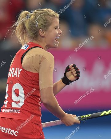 Stock Picture of Sophie Bray of England celebrates her goal, 1-0