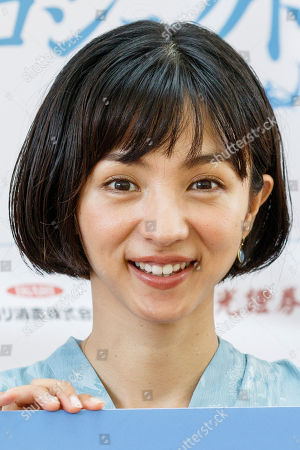 Japanese actress and singer Hikari Mitsushima attends news conference at the National Museum of Nature and Science in Tokyo. The museum aims to collect 30 million yen to recreate the Japanese ancestors' journey between Taiwan and Yonaguni Island on a wooden dugout canoe.