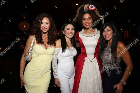 "Sophia Milos, Sandra Santiago, Joy Villa, Sonia Pourmand. Sophia Milos, Sandra Santiago, Joy Villa and co-producer Sonia Pourmand seen at the premiere of ""Death of a Nation"", in Los Angeles"