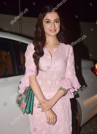 Divya Khosla Kumar attends the special screening of film 'Fanney Khan' at PVR cinema, Juhu in Mumbai.